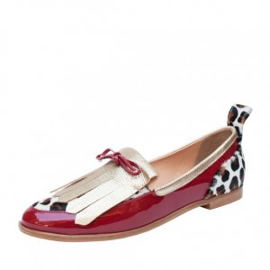 MOCASINES BETTY LEOPARDO ROJO