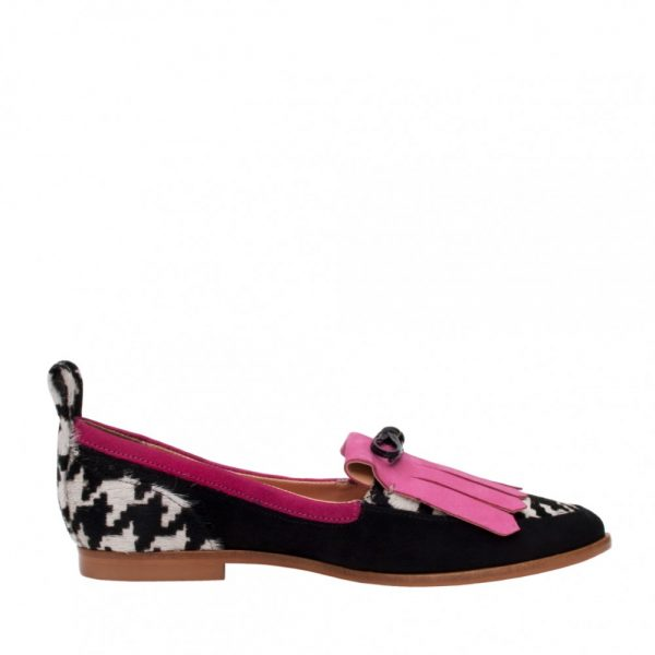 MOCASINES BETTY TWEED FUCSIA